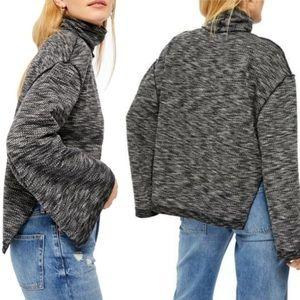 NWT Free People Nightstar Grey Turtleneck Sweater